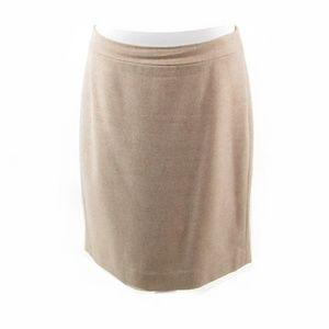J. Crew beige wool blend A-line skirt 8